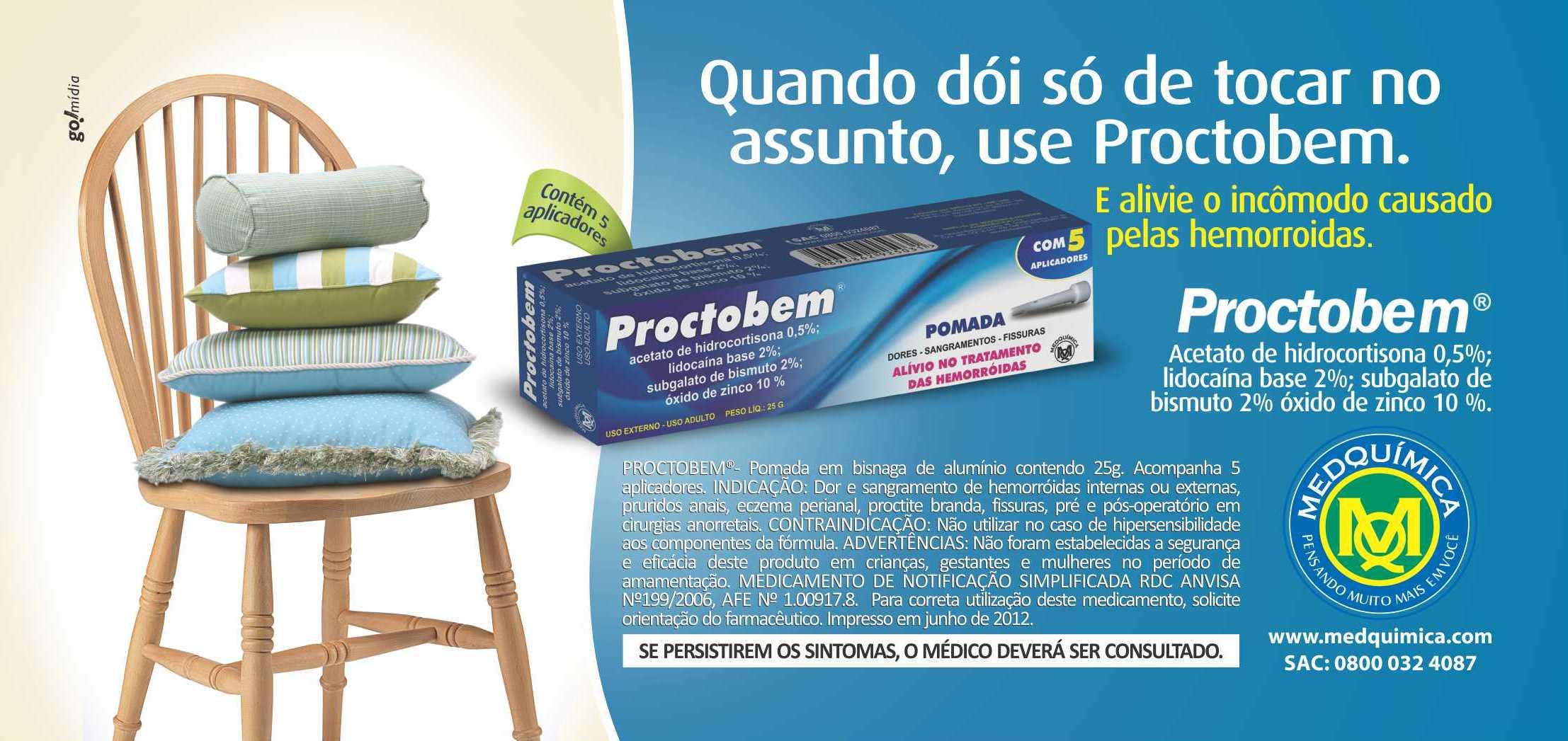 Anúncio Proctobem Medquímica