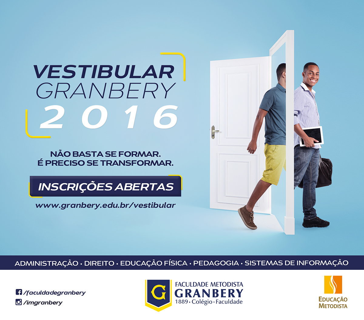 Anúncio Vestibular Granbery