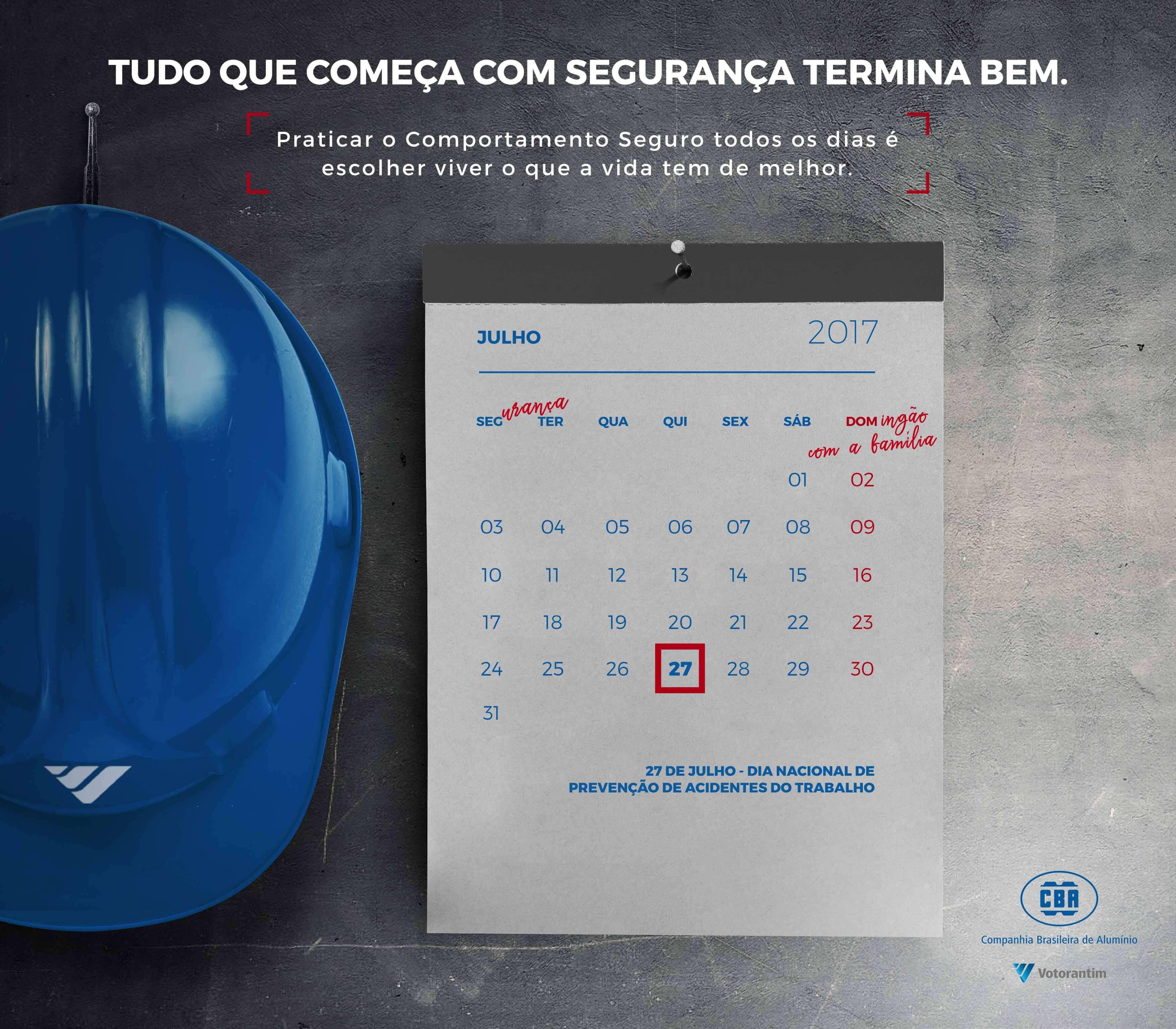 CBA – Dia Nacional de Prevenção de Acidentes do Trabalho