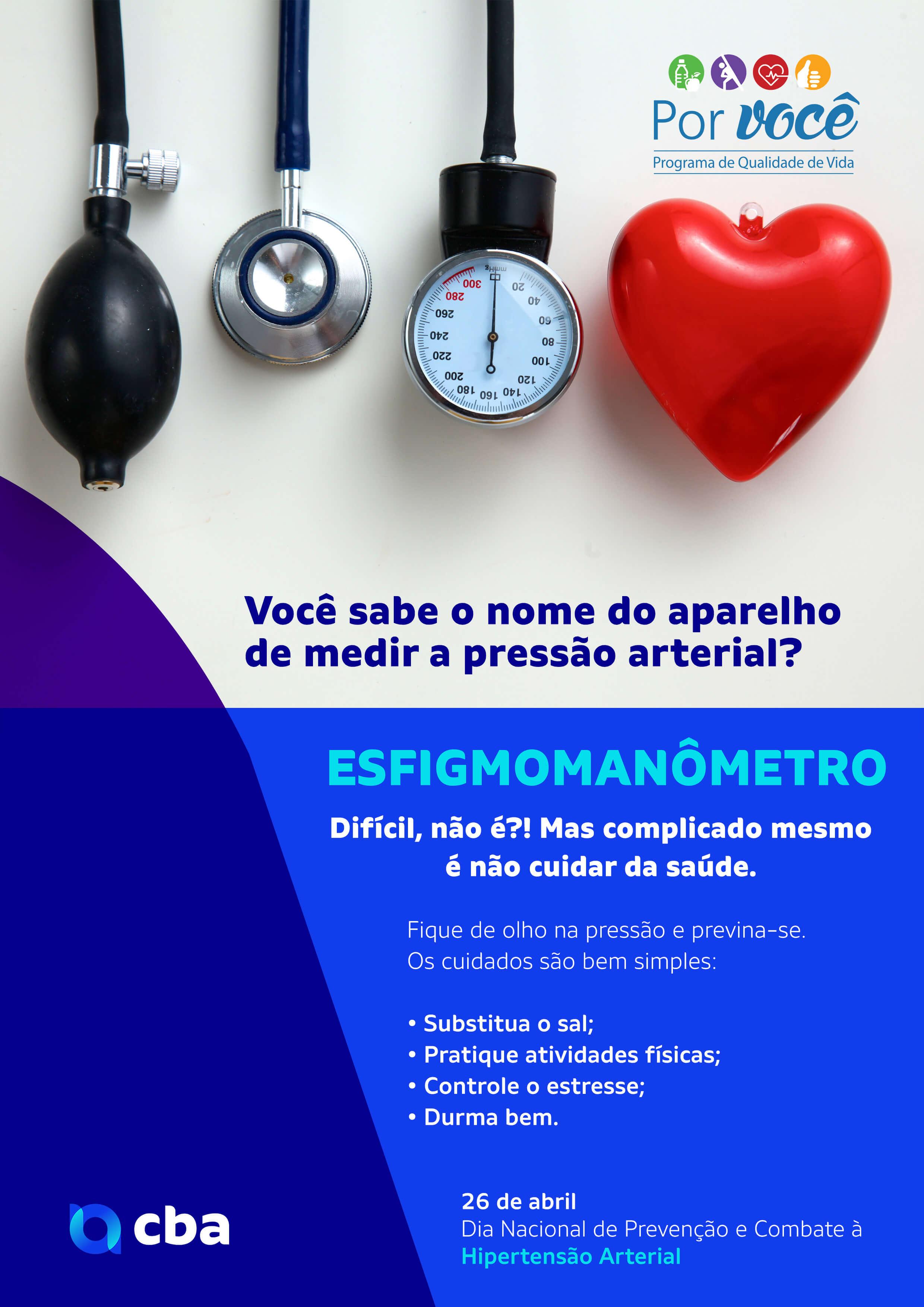 CBA – Dia Nacional de Prevenção e Combate à Hipertensão Arterial